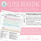 Benchmark Advance Close Reading Companions (Second Grade, Unit 1)