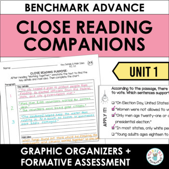 Close Reading Companions (Third Grade, Unit 1)