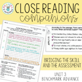 Close Reading Companions (Benchmark Advance, Third Grade, Unit 3)