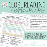 Close Reading Companions (Benchmark Advance, Third Grade, Unit 4)