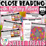Close Reading Comprehension Activity: Sweets Themed | PRIN