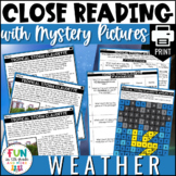 Close Reading Comprehension Activity: Weather Themed | PRI