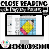 Close Reading Comprehension: Back to School | Digital | Di