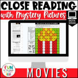 Close Reading Comprehension: Movie Themed | Distance Learn