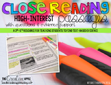 Close Reading Comprehension Pack: High Interest