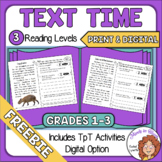 Close Reading Comprehension Passages Distance Learning with Digital FREE