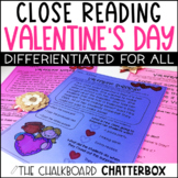 Close Reading Passages and Questions Valentines Day