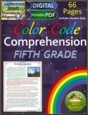 Close Reading Comprehension Color-Coding 5th Grade - Print