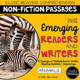 Close Reading Comprehension for Emerging Readers & Writers: Animals