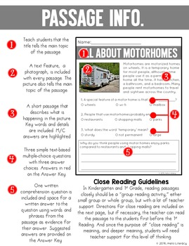 Close Reading Comprehension for Emerging Readers & Writers: Homes