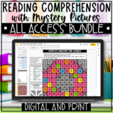 Close Reading Comprehension Passages with Mystery Pictures ALL ACCESS Bundle