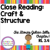 Close Reading Craft and Structure RL 3.4