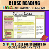 Close Reading: DIGITAL Interactive Template for Any Text