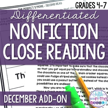 Close Reading  - December Lower Level ADD-ON