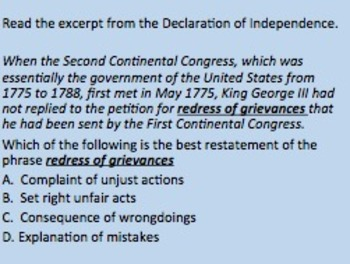Close Reading: Declaration of Independence with National Treasure video clips