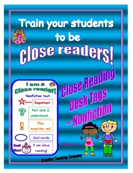Close Reading Desk Tags ~ Nonfiction