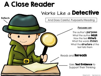 Close Reading Detective Poster