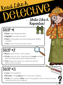 Close Reading Detective-Styled Poster