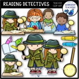 Close Reading Detectives Clip Art