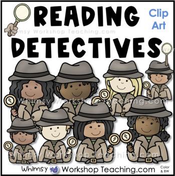 Close Reading Detectives Clip Art