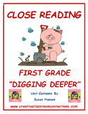 Close Reading: First Grade Digging Deeper
