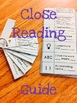 Close Reading Discussion Guide and Bookmark Fourth Grade