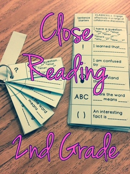 Close Reading Discussion Guide and Bookmark Second Grade