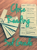 Close Reading Discussion Guide and Bookmark Third Grade