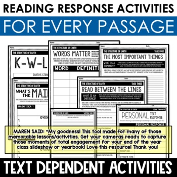 Earth Science Reading Passages and Writing Prompts BUNDLE