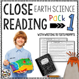 Earth Science Reading Passages and Writing Prompts