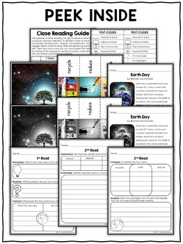 Earth Day Close Reading Passage Activities