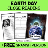 Close Reading Passage - Earth Day Activities