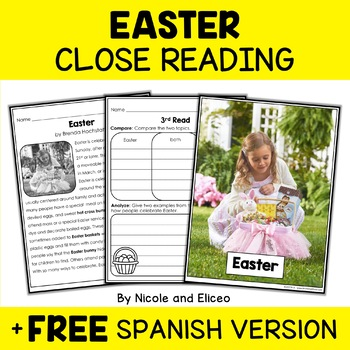 Close Reading Passage - Easter Activities