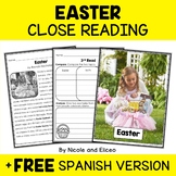 Easter Close Reading Passage Activities