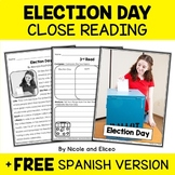 Close Reading Passage - Election Day Activities