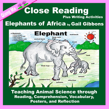 Close Reading: Elephants of Africa by Gail Gibbons