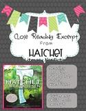 Close Reading Excerpt from Hatchet (Literary Nonfiction/Bi
