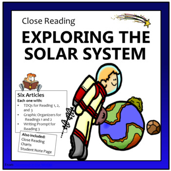 close reading exploring the solar system by classroom in the middle