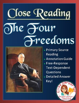 Close Reading: FDR's Four Freedoms Speech
