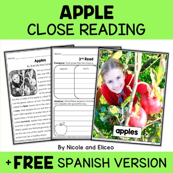Close Reading Passages - Fall Activities