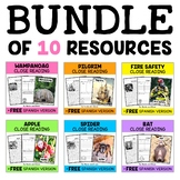 Fall Close Reading Passages Bundle