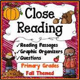 Fall Close Reading Passages, Questions & Graphic Organizers