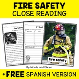 Fire Safety Close Reading Passage Activities