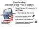 Close Reading:  First Amendment Landmark Cases and Politic