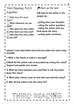 Close Reading Flip Book/Interactive Notebook Lesson-FICTION