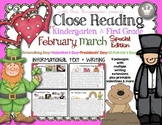 Close Reading For Kindergarten & First Grade: February March Special Edition