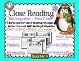 Close Reading For Kindergarten & First Grade: Quarter 3 Winter Bundle