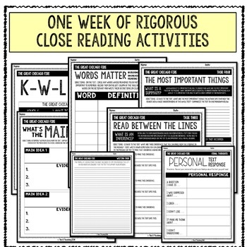 Close Reading (For the Middle Grades) - THE GREAT CHICAGO FIRE