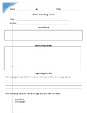 Close Reading Form