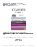 Close Reading Francine Prose